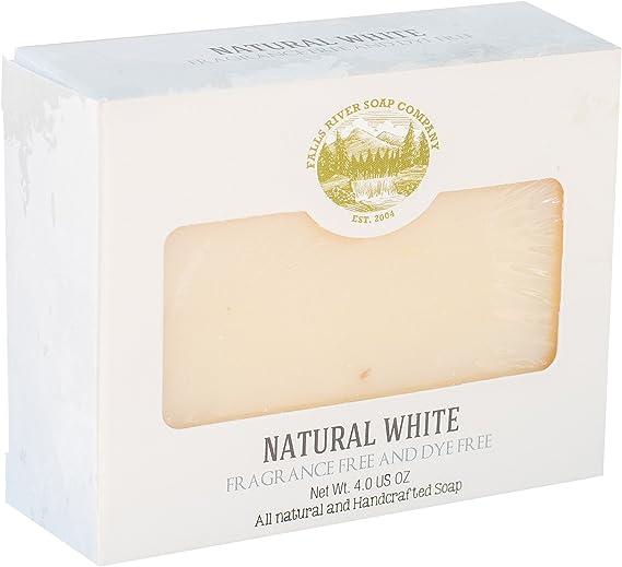 Pastilla de jabón blanco natural (4Oz)- Hipoalergénico, sin aromas ni colorantes (4Oz) - Orgánico y artesanal para pieles sensibles. Jabón corporal y facial hidratante. Con manteca de karité, aceite de coco.: Amazon.es: