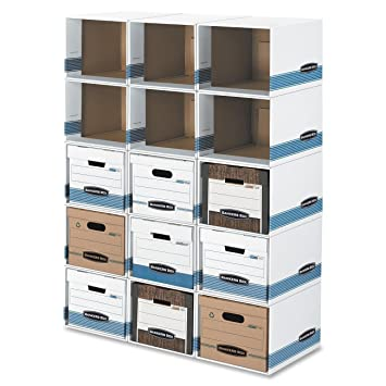 amazon com bankers box fellowes file cube box shells fel01626 rh amazon com Bankers Storage File Box Shelves File Box Storage System