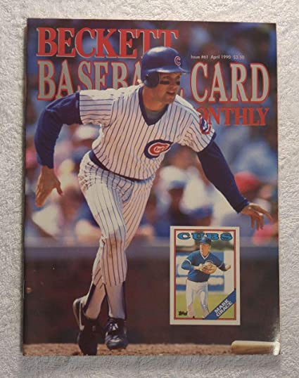 Mark Grace Chicago Cubs Beckett Baseball Card Monthly