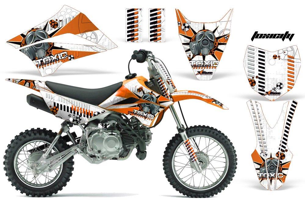 カワサキklx110l 2010 – 2018 MXダートバイクグラフィックキットステッカーデカールKLX 110 L Toxicオレンジ B075NWT14K