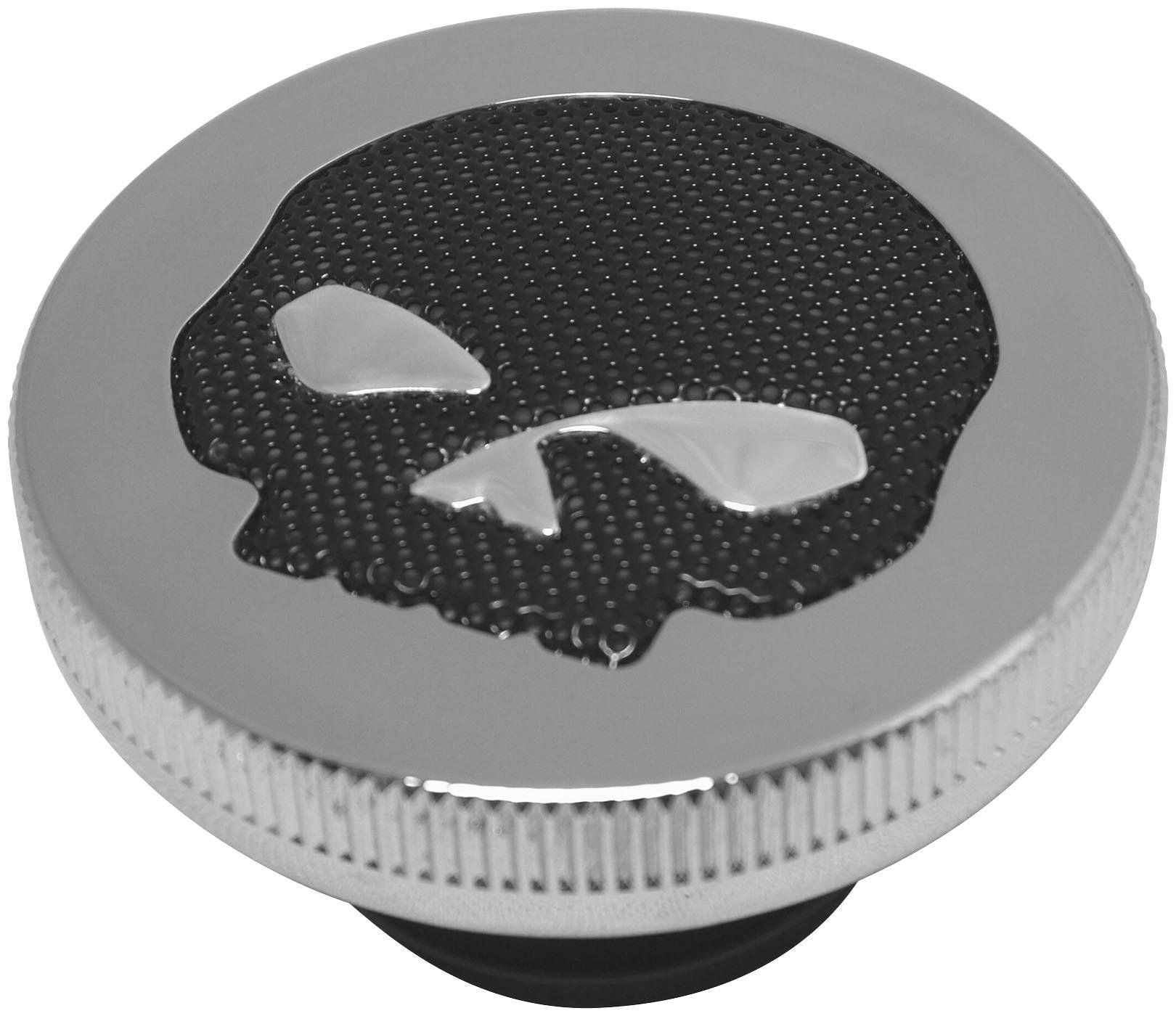 89-95 HARLEY FLHTCU: Biker's Choice Gas Cap With Skull Screen
