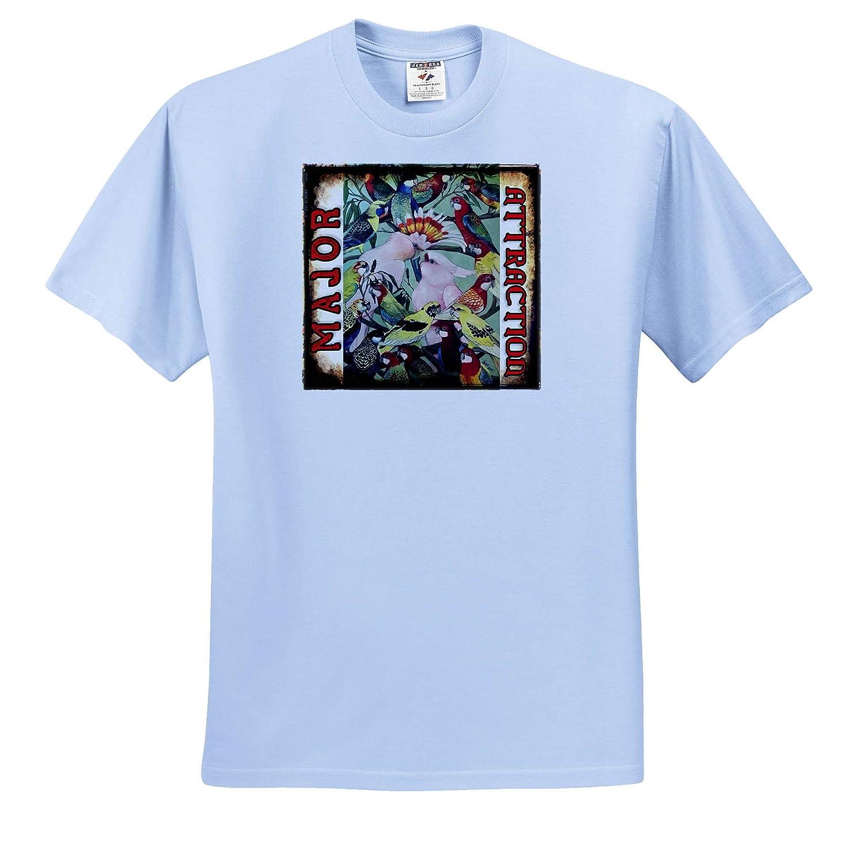 Major Attraction Major Mitchells Adult T-Shirt XL 3dRose Skye Elizabeth Designs ts/_308681
