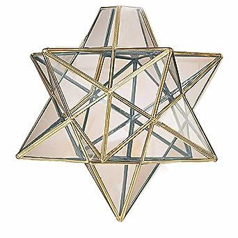 Moravian star clear glass antique brass ceiling light shade moravian star clear glass antique brass ceiling light shade pendant aloadofball Images