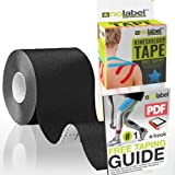 Kinesiology Tape Uncut - UnCut Sports Tapes Strapping Muscle Sports Support | 5cm x 5m Medical Roll No Label H20 Waterproof Athletic Physio Muscles Strips 11 Colours | FREE PDF Ebook Taping Guide