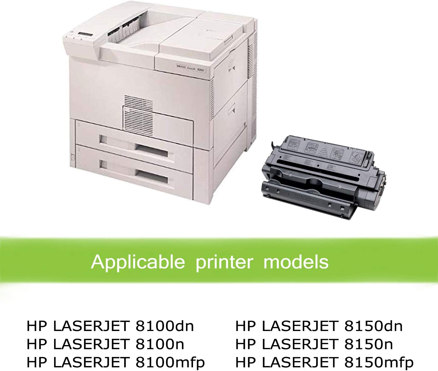 8150n Awesometoner Compatible Toner Cartridge Replacement for HP C4182X MICR use with Laserjet 8100dn 8150dn 8100n Mopier 320 Black, 2-Pack