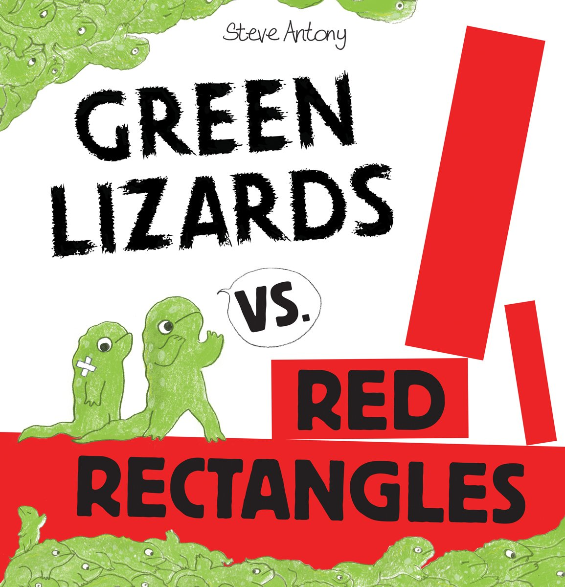 Image result for green lizards vs red rectangles