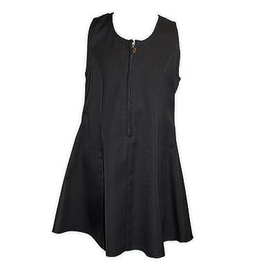 Girls Back Bow Dress Ages 2-10 Black/Grey/Navy (2-
