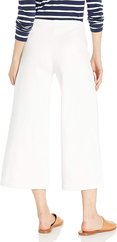 Joan Vass Womens Cropped Wide Leg Pant