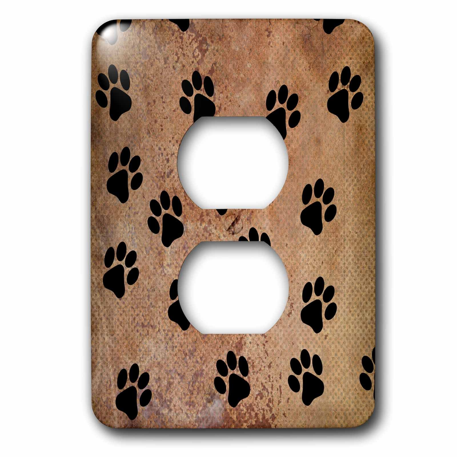 3dRose lsp_240245_6 Paw Prints of Animal Trends Plug Outlet Cover