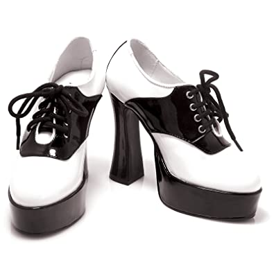 dd531b3d91c0f Amazon.com | Sexy Fashions 557-SADDLE in Black and White | Pumps