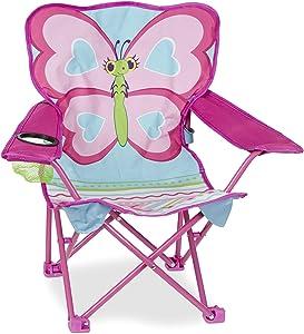 Melissa & Doug Cutie Pie Butterfly Camp Chair, Pink (96423)