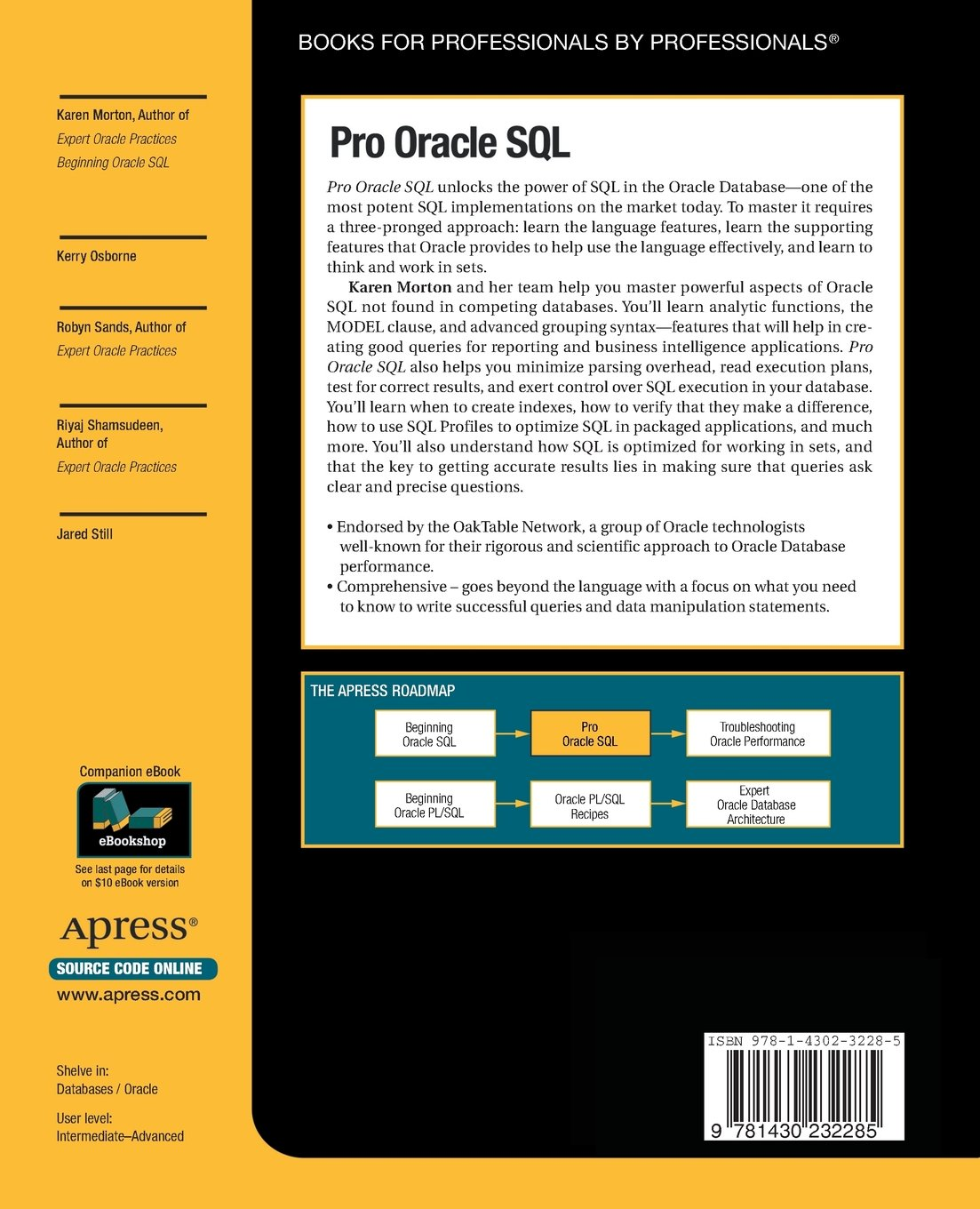 Pro Oracle SQL (Expert's Voice in Oracle) by Brand: Apress