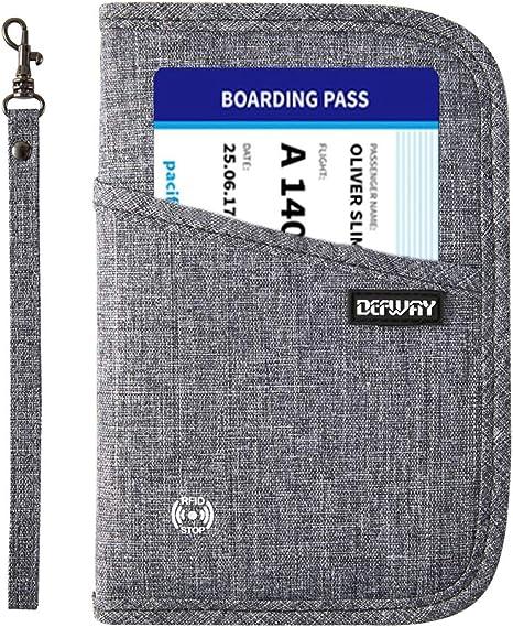 DEFWAY Portefeuille Passeport Gris 007-grau