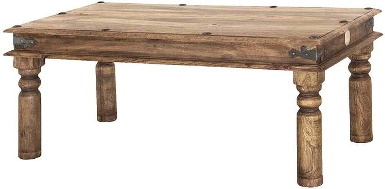 MASSIVMOEBEL24.DE Massiccio Legno Kolonialart Mobile Sheesham Oleato Tavolino da Salotto 110x60 Palissandro Grigio Mobili in Legno Massello Grigio Leeds #27