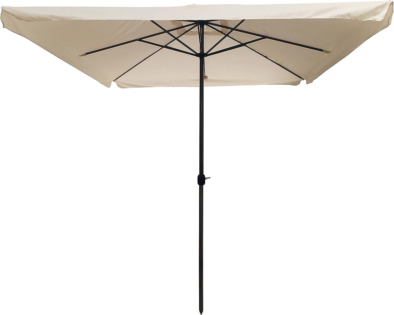 Sombrilla Para Jardín 3 x 3 Bar Jardín Terrazo de Playa Piscina Aluminio 3 x 3 mt Gris: Amazon.es: Hogar