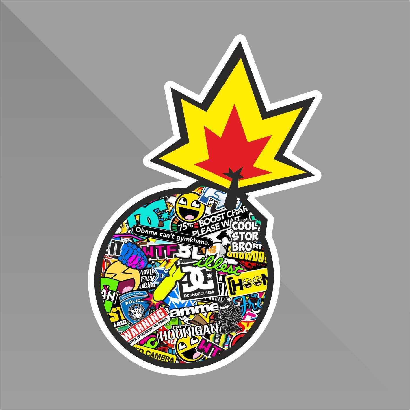 Sticker Bomb Teschio Skull Cr/âne Cr/áneo Sch/ädel Pistoni Pistons Punisher Decal Auto Moto Casco Wall Camper Bike Adesivo Adhesive Autocollant Pegatina Aufkleber cm 10