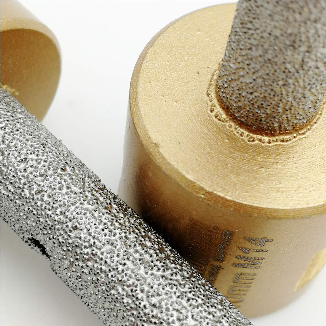 DIATOOL 2pcs Diamond Finger Bit Milling bit M14 Thread Vacuum Brazed Enlarging and Shaping Round Bevel Existing Holes in Porcelain Hard Ceramic Marble Granite Diameter 20mm