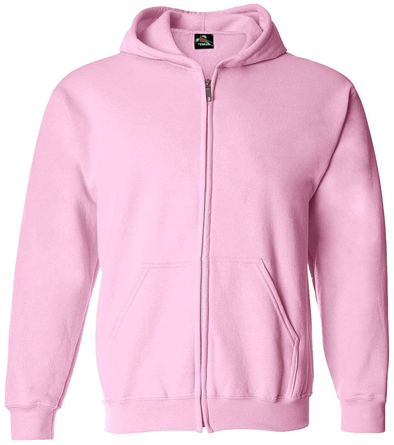 602c47feef5 Amazon.com  Beimar Girl s Zip-Up Light Pink Hoodie Fashion Apparel for  Young Women  Clothing