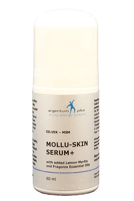 Plata-MSM Suero de la piel de Mollu + Aplicador de rodillo - con Myrtle