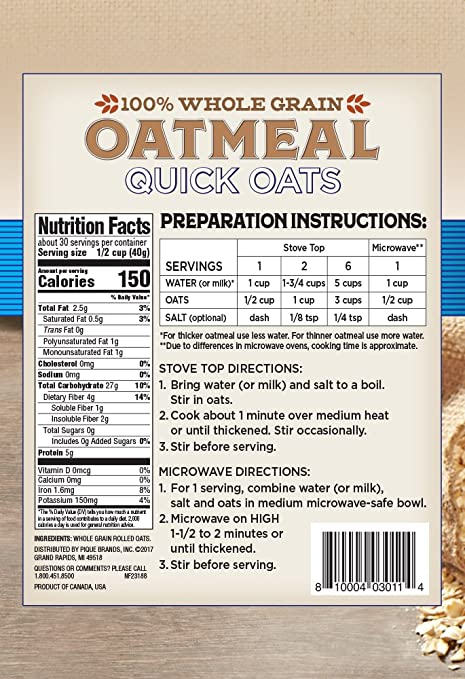 Amazon Lovesome Quick Oatmeal 42 Ounce Prime Pantry