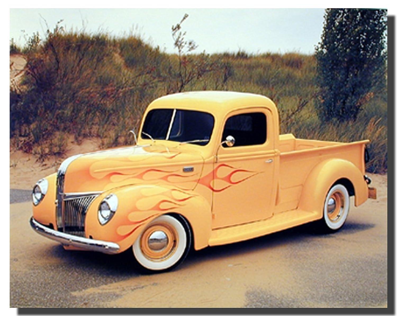 Amazon.com: Wall Decor 1940 Ford Pickup Truck Vintage Art Print ...