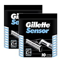 Gillette Sensor- 10 Blade Replacements ** 2 PACK DEAL**