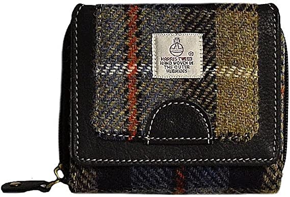Harris Tweed - Monedero de Lana Azul azul small: Amazon.es ...
