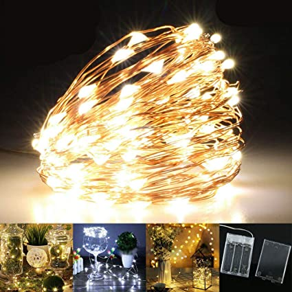 20//30//40//100 Battery Micro Rice Wire Copper Fairy String LED Lights Party Xmas
