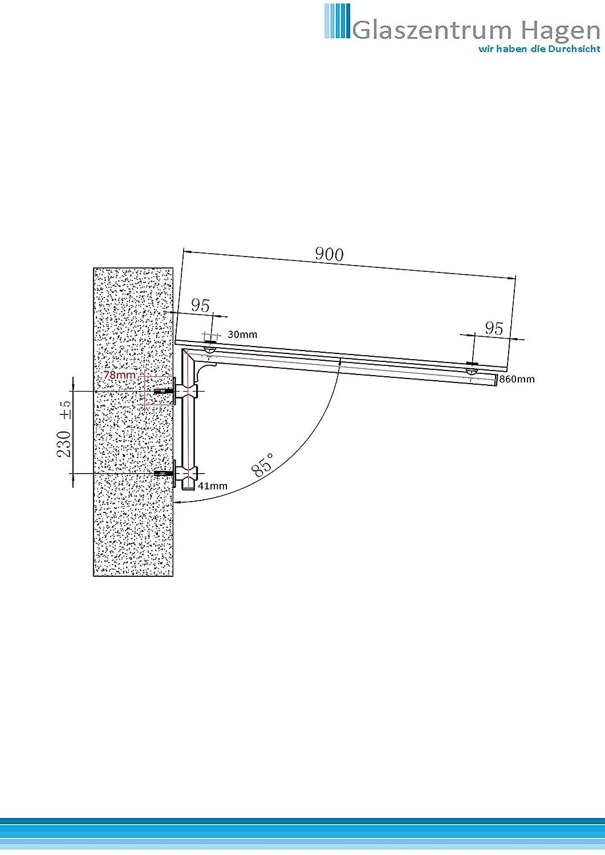 Halterung - L Wagner GlasvordachHalterung VordachHalterung T/ürvordach-Halterung Halterung f/ür Glasvordach Edelstahl High-Quality