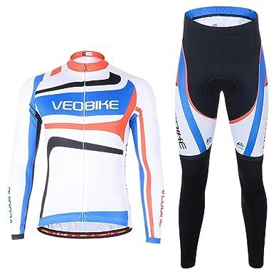 Amazon.com: EoCot - Conjunto de ropa de ciclismo para hombre ...