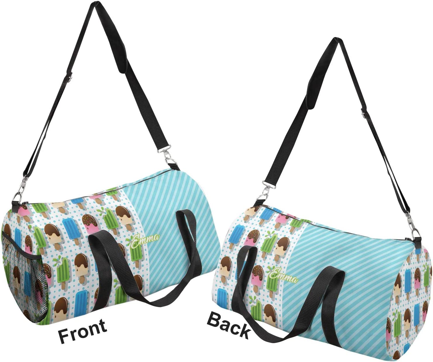 YouCustomizeIt Popsicles and Polka Dots Duffel Bag Personalized