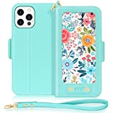 """FYY Case Compatible with iPhone 12/12 Pro 6.1"""", [Kickstand Feature] Luxury PU Leather Wallet Case Flip Folio Cover with [Card"""