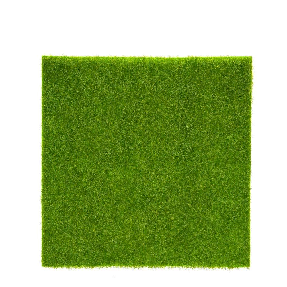 Zerone 2 Sizes Synthetic Artificial Grass Mat Turf Lawn Garden Micro Landscape Ornament Home Decor(1515cm)