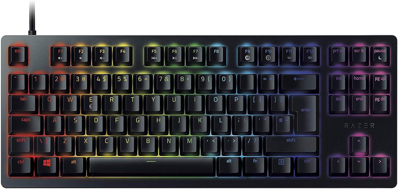 Razer Huntsman Tournament Edition Teclado con teclas opto-mecánicas , accionamiento óptico, barra estabilizadora de teclas, durabilidad inigualable, Synapse 3 - US Layout, Negro
