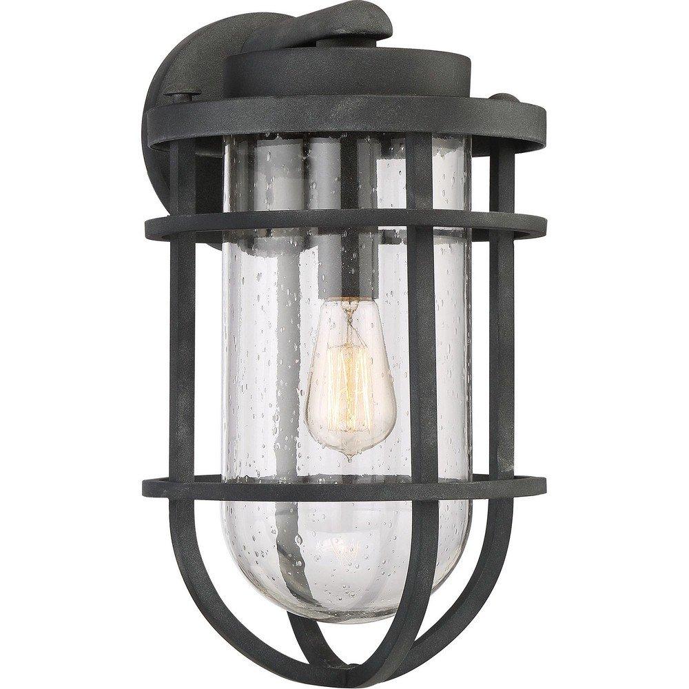 Quoizel One Light Outdoor Wall Lantern BRD8410MB, Large, Mottled Black