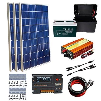 Amazon com : ECO-WORTHY 300W Off Grid System 3X 100W Solar