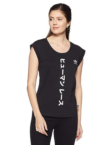 Camiseta Amazon 36 es Accesorios Y Mujer Ropa Para Adidas Negro 4Cdyqfqw