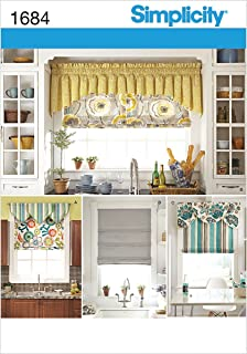 product image for Simplicity 1684 Roman Shades and Valances Sewing Pattern, Fits 35'' and 40'' Wide Windows