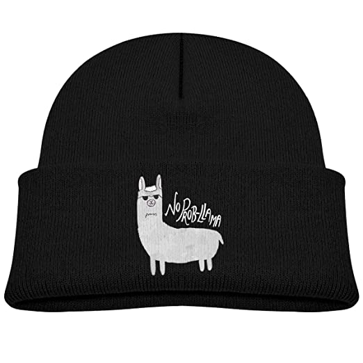 7434730d47b Image Unavailable. Image not available for. Color  Kids Funny No Prob-Llama  Beanie Hats Warm Adjustable Caps ...