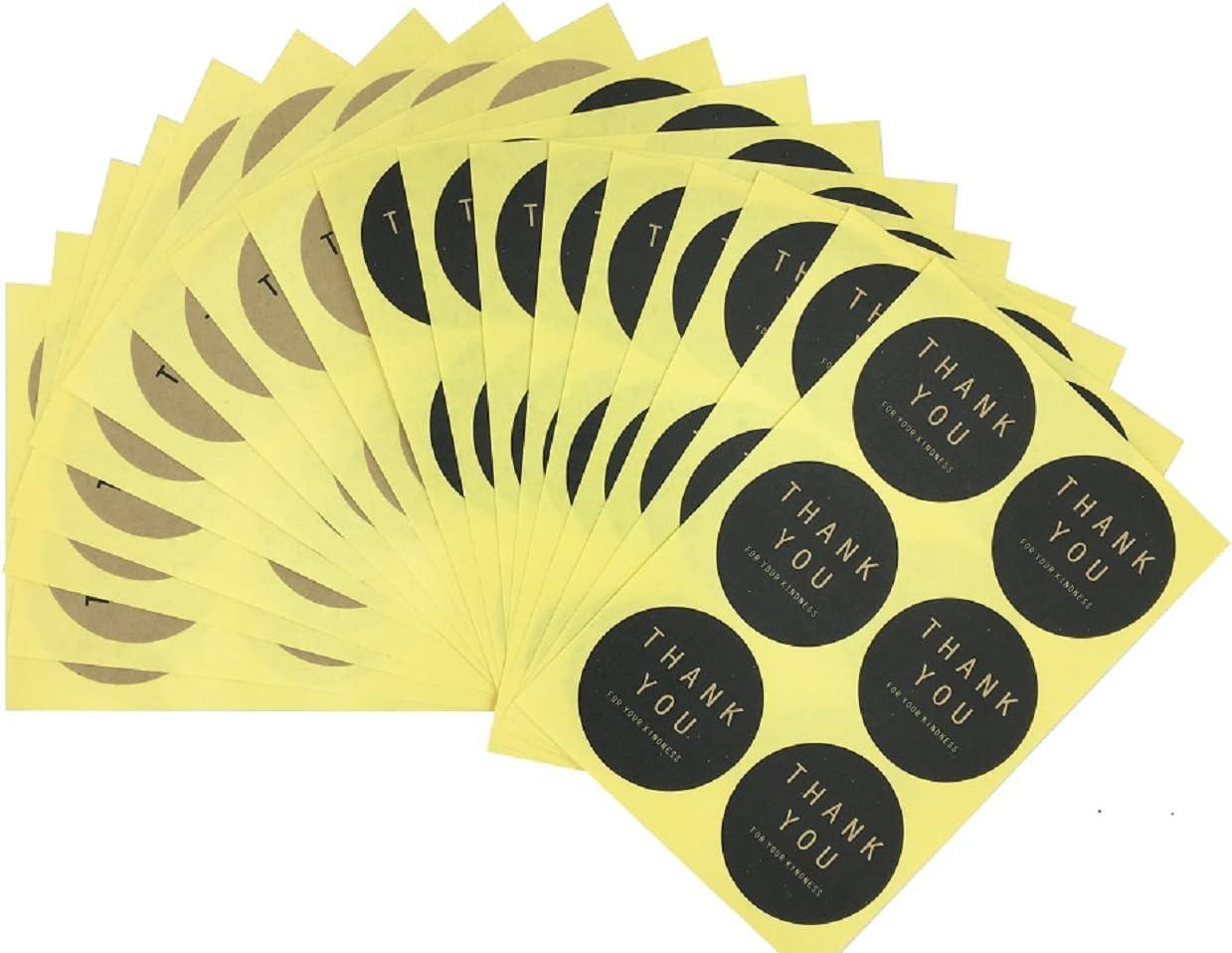 100/Thank You /étiquettes /à pois blancs Autocollant plastique Sacs Cookie pour le cadeau 200/sacs