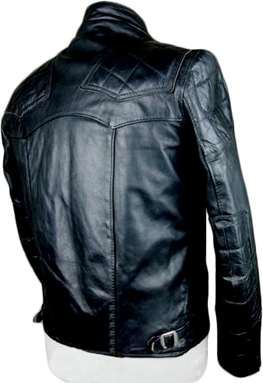 Men Leather Jacket Coat Motorcycle Biker Slim Fit Outwear Jackets T1167