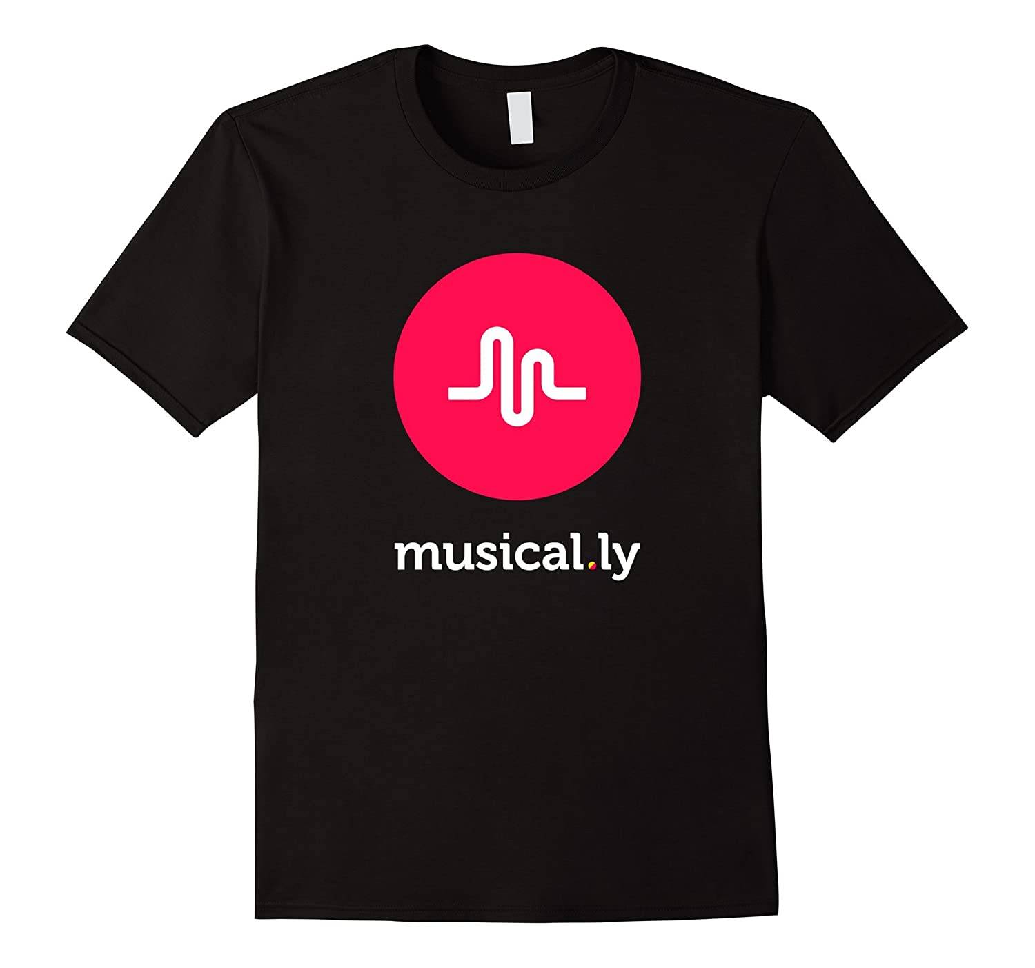 'musical.ly' T-Shirt (Black)-CL
