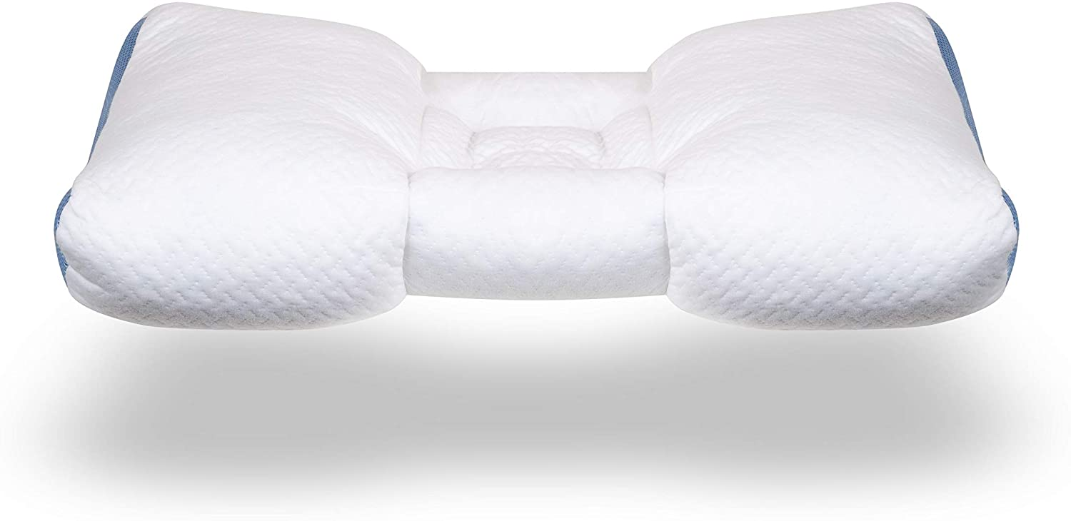 SpineAlign Pillow - Patented & Award Winning - 100% Adjustable Contour Pillow - Promotes Healthy Spine Alignment for Better Sleep - Perfect for Side & Back Sleepers