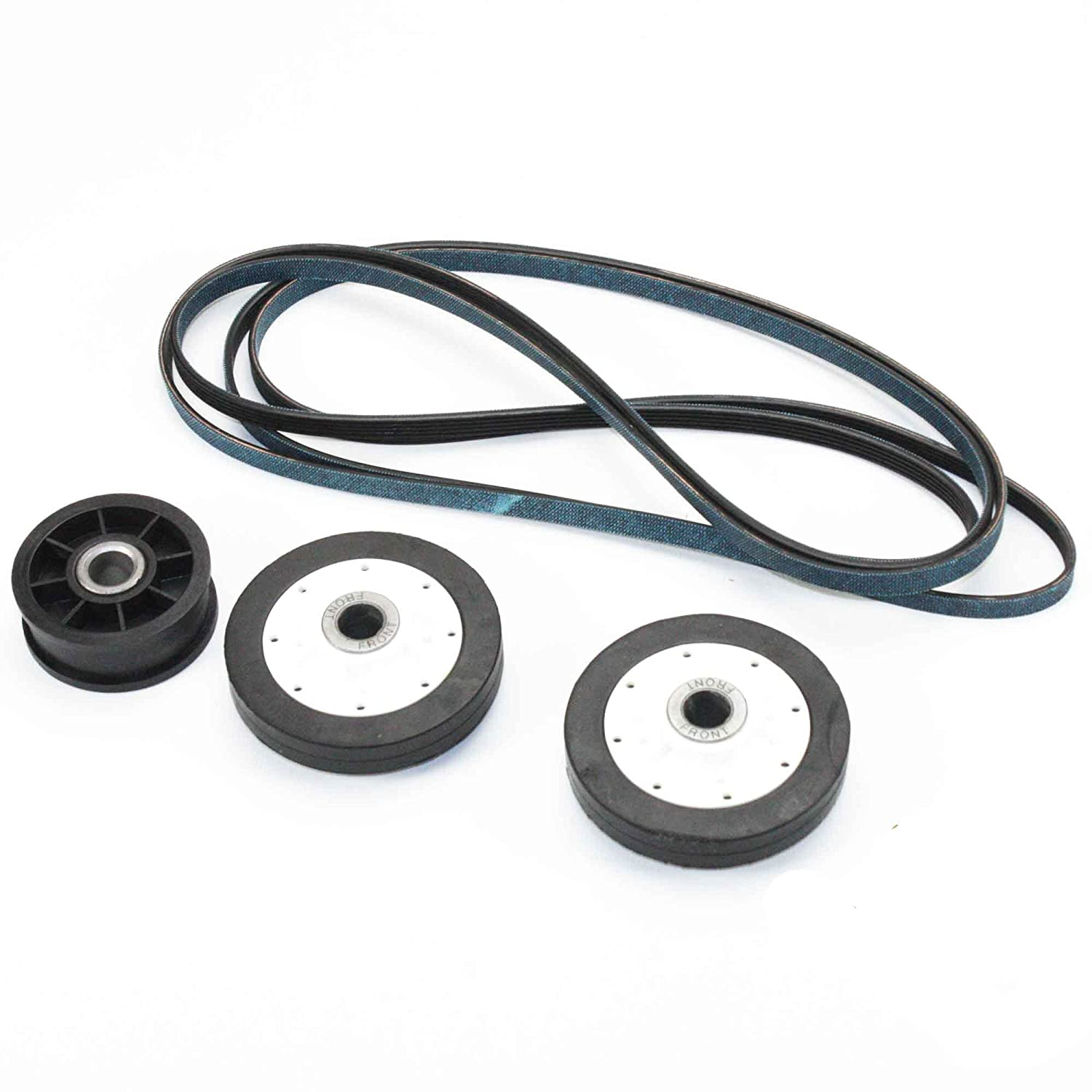 Supplying Demand 40111201 Y54414 37001042 Dryer Belt & Pulley Rollers Repair Kit