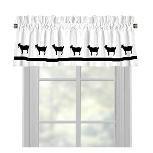 Billy Goat Window Valance Window Treatment – In Your Choice of Colors – Custom Made