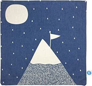 """GOSTAR StarGo Scandinavian Modern Cotton Linen Square Throw Pillow Covers Decorative Cushion Covers Pillowcases Indoor Sofa Couch Coffee Accent Kids room and bed 18""""x18"""" (Flag and Hill)"""