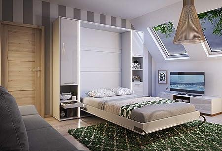 Mirjan24 Dormitorio Juego de Concept Pro I Veraflex y 2estantes Pared, Vertical, Cama con somier de Cama, Armario, Plegable, función Cama