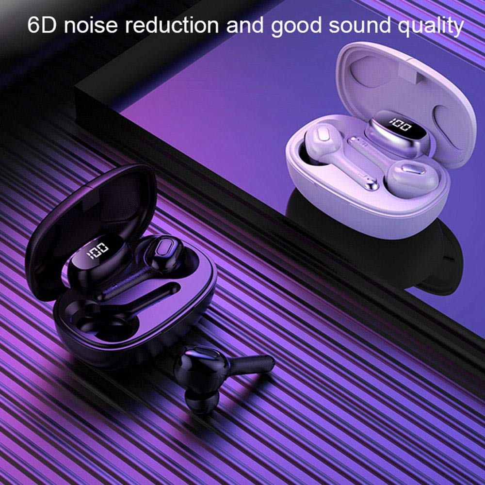 2 In 1 In-Ear Language Translator Headset Stereo//Panoramic Sound 6D Noise Canceling/&Intelligent Display Translator Earbuds 33 Language Translator Device with Charging Box for iOS//Android//iPai