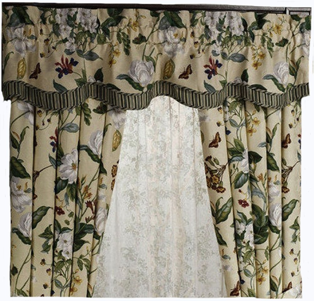 Waverly Garden Images Parchment Fairfield Valance by Royal Heritage