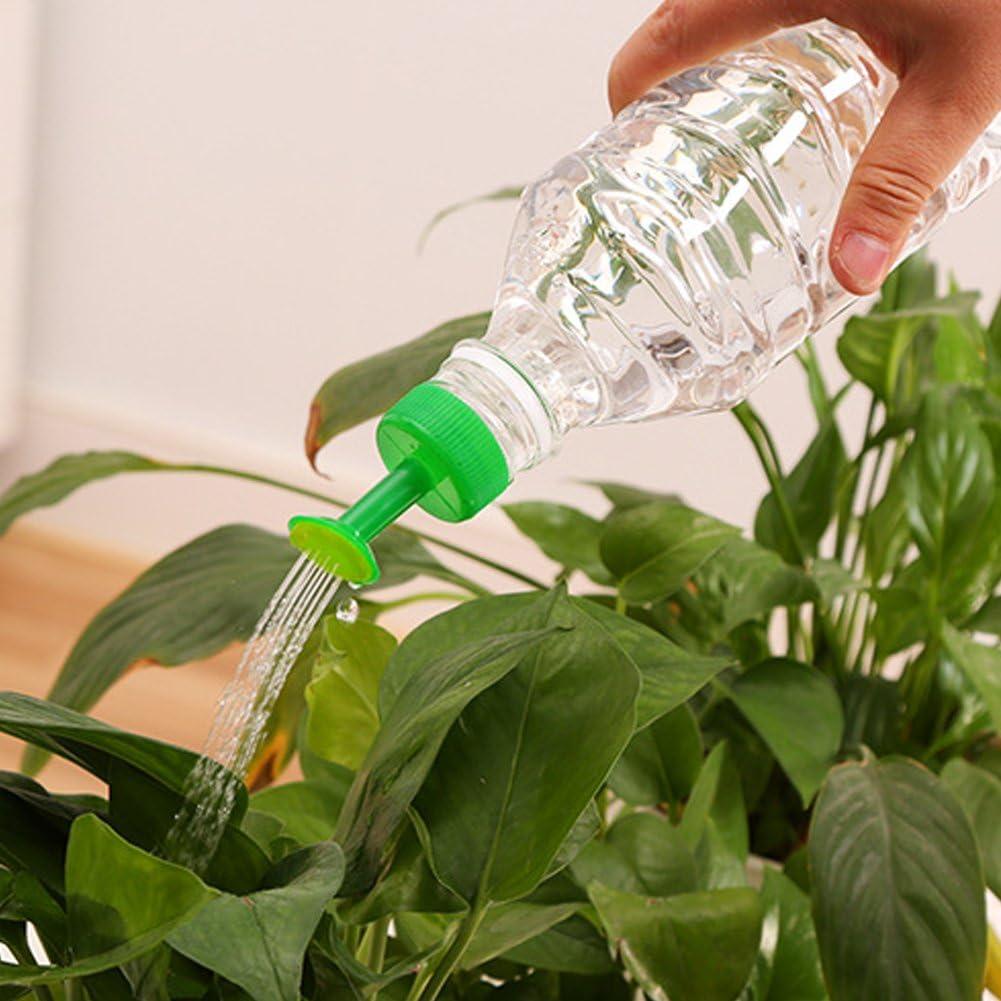 FAVOLOOK 8 piezas de riego de botellas, boquilla de riego de plástico para riego de plantas, para jardín, verduras, riego automático (color al azar)